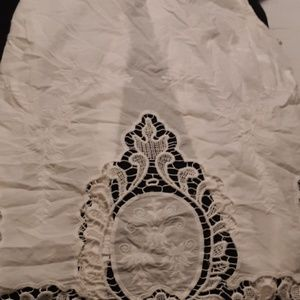 Cynthia Rowley sleeveless  blouse w/ lace design